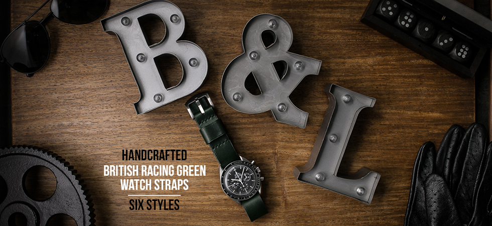 British Racing Green Leather Watch Strap Collection