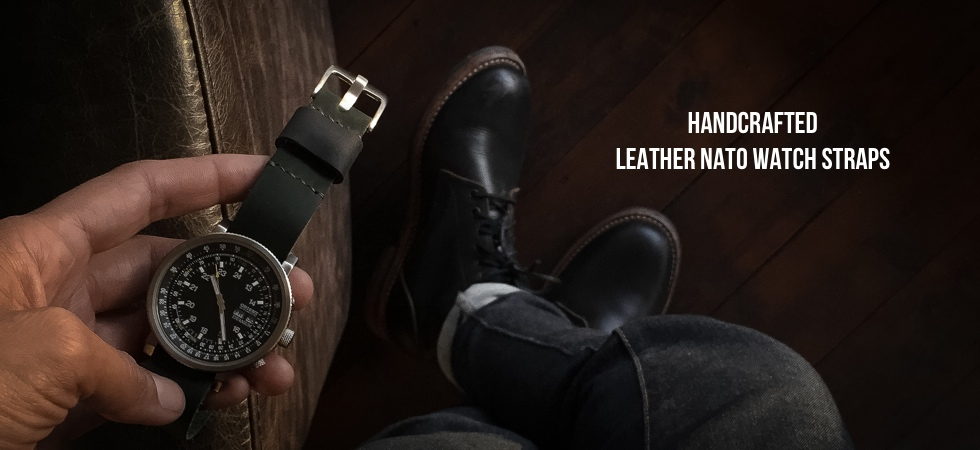 Handmade Leather NATO Watch Straps