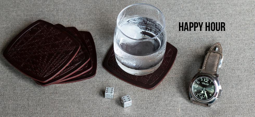 Happy Hour Drinks Coaster