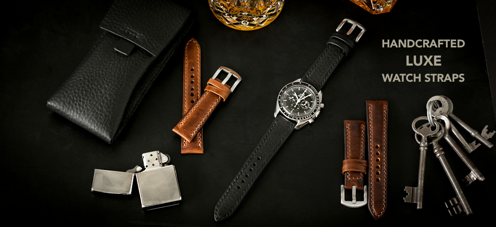 Handcrafted Padded Leather Watch Straps