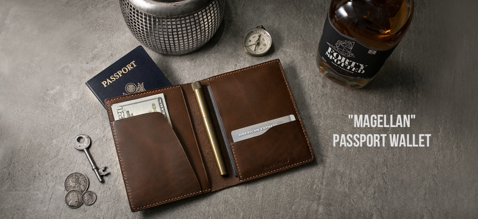 Double Leather Passport Wallet