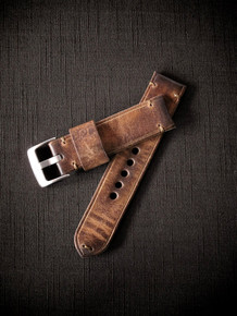 """Monaco"" Cognac Handmade Leather Watch Strap"