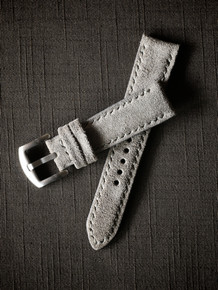 """Everton"" Grey Suede Padded Watch Strap"