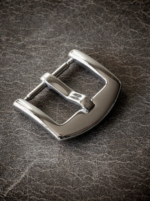 Slim Polished Steel Spring Bar Watch Buckle