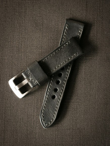 """Winston"" Dark Green Handmade Leather Watch Strap"