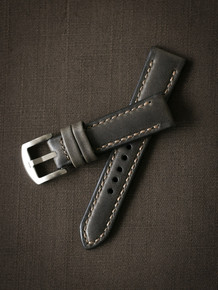 """Winchester"" Dark Green Padded Leather Watch Strap"