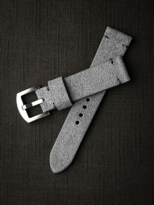 """Cygnet"" Light Grey Suede Watch Strap"