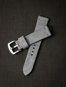 """Cromwell"" Grey Suede Watch Strap"