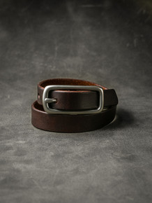 """Blake"" Burgundy Leather Double Wrap Bracelet"