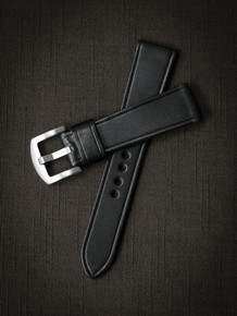 """Bowen"" Black Leather Watch Strap"