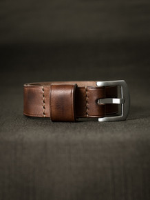 """McQueen"" Russet Vintage Tan Leather NATO Watch Strap"