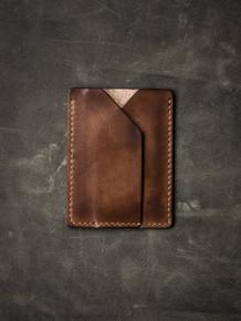 """Rex"" Russet Vintage Tan Leather Slim Wallet"