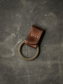 """Guardian"" Russet Vintage Tan Handmade Leather Key Fob"