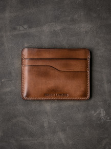 """Ford v2"" Russett Vintage Tan  Slim Leather Wallet"
