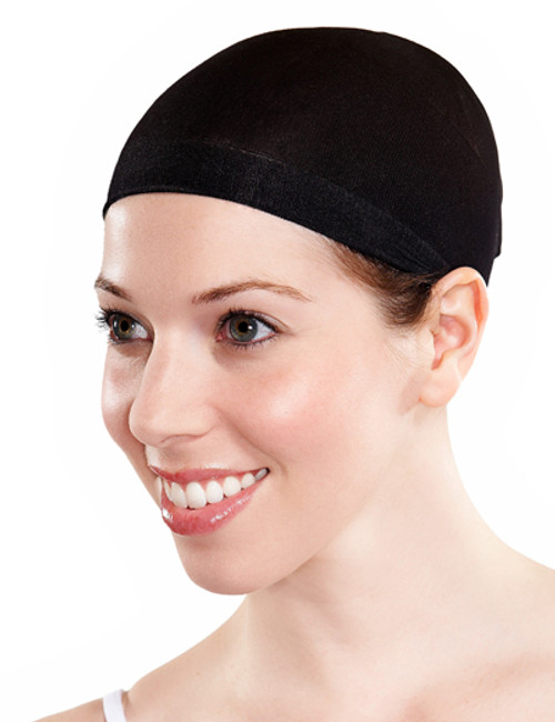 WIG CAP STOCKING MATERIAL BLACK COLOUR 2 PIECES