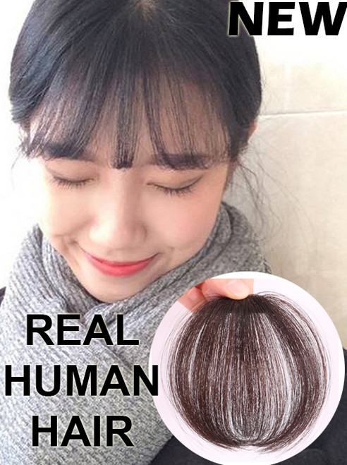 HUMAN HAIR AIRY LIGHTWEIGHT MAGIC FRINGE