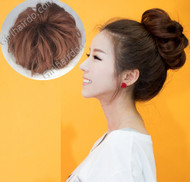 ★ MANDU CURL BUN ★ NATURAL only left light brown.