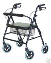 Walkabout Imperial Four Wheel Rollator-Bariatric with Straight Back (GF RJ4400K)