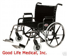 "Everest & Jennings Bariatric Manual Wheelchair, 650 cap., 30"" w, Swingaway Footrests"