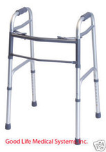 716070A Graham Field Aluminum Walker Lightweight Folds Easily