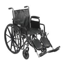 """Silver Sport 2 Wheelchair 18"""" Seat, Swingaway Elevating Legrests (DR SSP218DDA-ELR)"""
