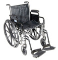 Drive Silver Sport 2 Wheelchair,Detachable Desk Arms,Swingaway Footrests, SSP216DDA-SF
