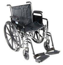 Drive Silver Sport 2 Wheelchair,Detachable Desk Arms,Swingaway Footrests, SSP216DDA-SF