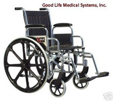 3E010110 Graham Field Traveler SE Wheelchair with Fixed Full Arms, Elevating Legrest and 18""