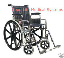 GF 3E010200 Traveler SE Wheelchair Full Fixed Arm Swingaway Footrests