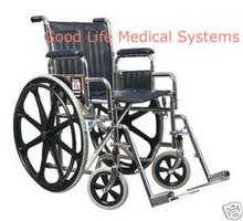 "GF 3E010220 Traveler SE Wheelchair Detachable Desk Arm Swingaway Footrest 16"" Seat"