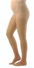 Women's Maternity Sheer Pantyhose, Closed Toe, 15 to 20 mmHg, Moderate Compression