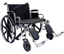 "Extra Wide Heavy Duty Wheelchair with Elevating Legrest,  28"" by 20"" Seat"