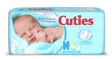 Cuties Disposable Diapers, Newborn Size