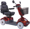 Red Heartway Bolero PF2 4 Wheel Mobility Scooter