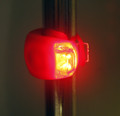 Red LED Clip On Light On