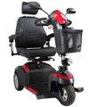 Drive Ventura Deluxe Scooter with 20 in. wide Captain's seat and 3 wheels.
