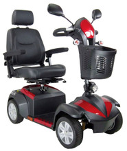 "Deluxe Ventura 4 Wheel Scooter from Drive Medical with 20"" wide Captain's Seat"