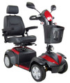 """Deluxe Ventura 4 Wheel Scooter from Drive Medical with 20"""" wide Captain's Seat"""