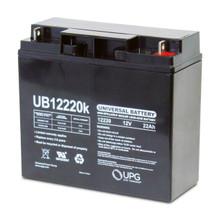 12v 12Ah batteries for Ewheels EW-36, EW-38, EW-54, EW-66 and Drive Spitfire EX, UB 12220