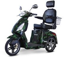 Camo Green EW-36 3 wheel mobility scooter