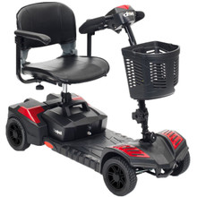 Drive Spitfire Scout 4 wheel compact scooter, Red SFSCOUT4-EXT