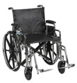"Drive  Bariatric Extra Heavy Duty Wheelchair, 20"" Wide Seat, Detachable Desk Arms, Swing Away Foot Rests STD20DDA-SF"