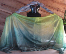 5mm Ultralight 3 yard Silk Belly Dance Veil, in DRAGON DREAMS