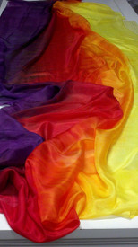 5mm Ultralight 3 yard Silk Belly Dance Veil, in BLAZE