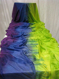 5mm Ultralight 3 yard Silk Belly Dance Veil, in ISIS + CHARTREUSE