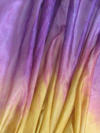 5mm Ultralight 3 yard Silk Belly Dance Veil, in SHADES OF EVENING