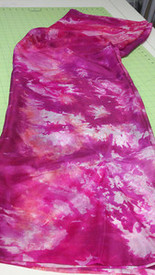 5mm Ultralight 3 yard Silk Belly Dance Veil, in PINK ON PINKS