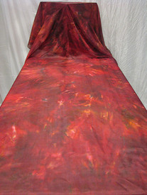 Beautiful Silk Road has features of  smoky brown, deep reds, oranges, and highlights of geranium pinks