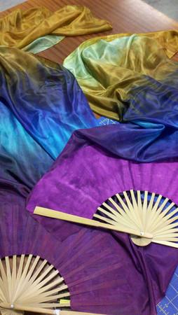 peacock fan veil