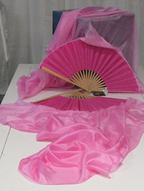 *Easy Order*   MADE IN USA  Fairy Cove Silks  MEDIUM STAVE  PETITE or SHORT  FANS  40-54inches CHOOSE YOUR COLORS